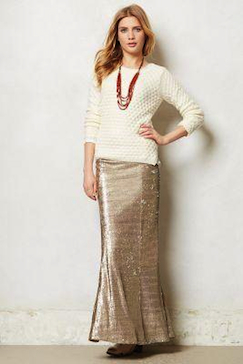 Gold glitter maxi skirt – Fashionable skirts 2017 photo blog