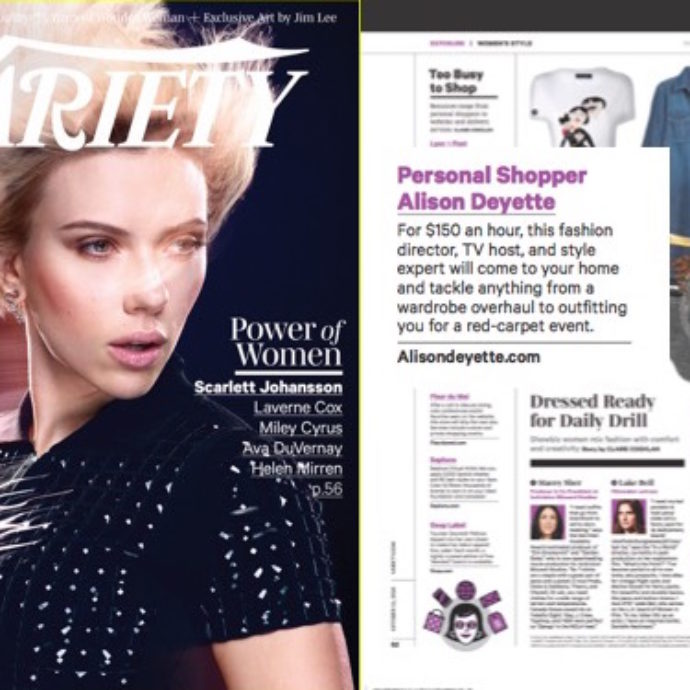Variety Magazine Named Alison Deyette Top Stylist in LA