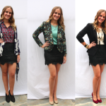 Lace skirt worn three ways by stylist Alison Deyette