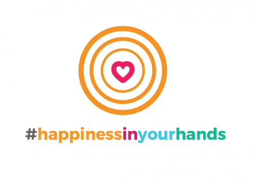happiness in your hands