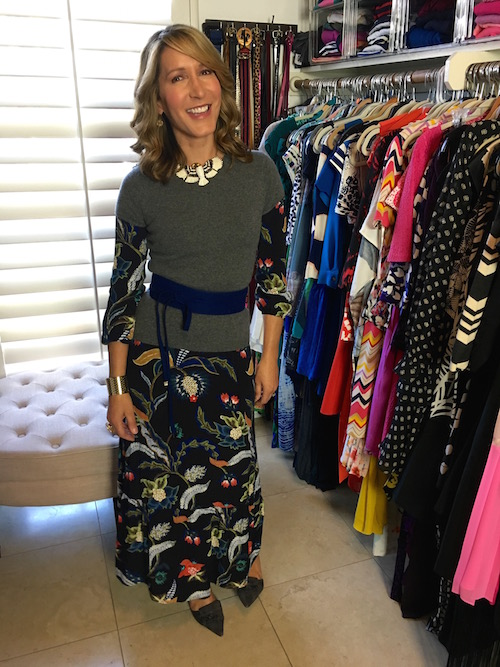 how to style a print dress four ways
