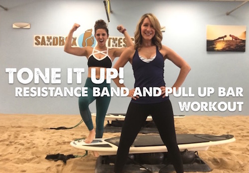 resistance band and pull up bar workout