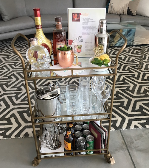How to style the perfect bar cart for any party