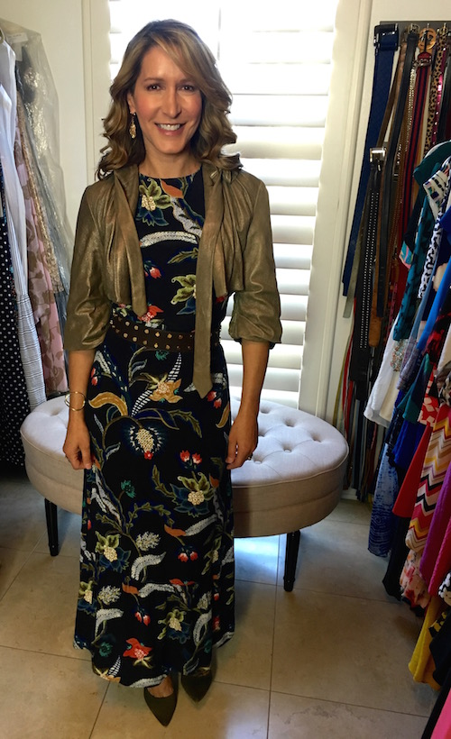 how-to-style-a-print-dress